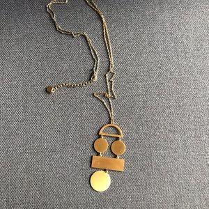 BAUBLEBAR Asymmetric shape gold necklace